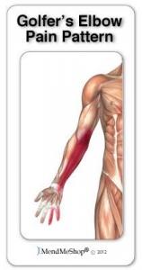 Golfers elbow pain pattern