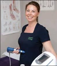 Working with shockwave therapy and laser therapy